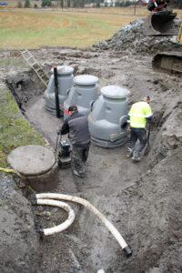 Jätevesijärjestelmän asennustyöt